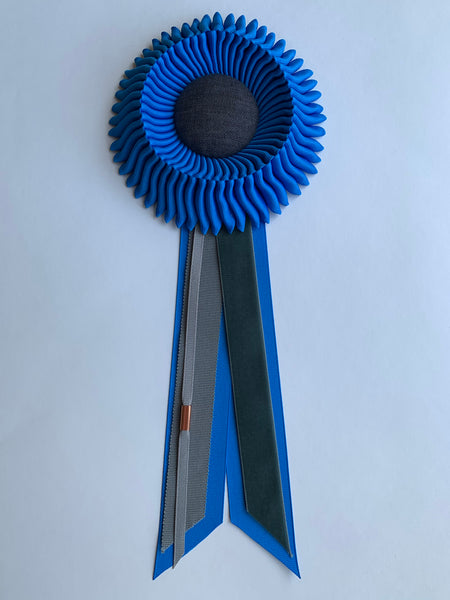 Small Cerulean Blue Rosette