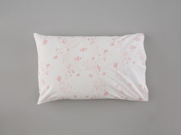 Pink Oak Leaf & Acorn Pillowcase