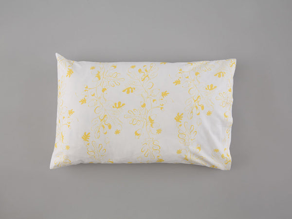 Yellow Oak Leaf & Acorn Pillowcase