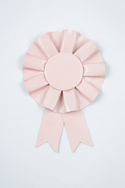 Small Pale Pink Leather Rosette