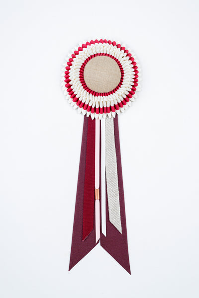 Small Burgundy and Cream Rosette