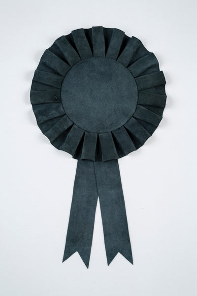 Large Charcoal Suede Rosette
