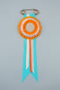 Orange and white stripe Rosette