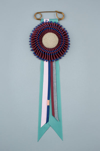 Maroon and navy Rosette