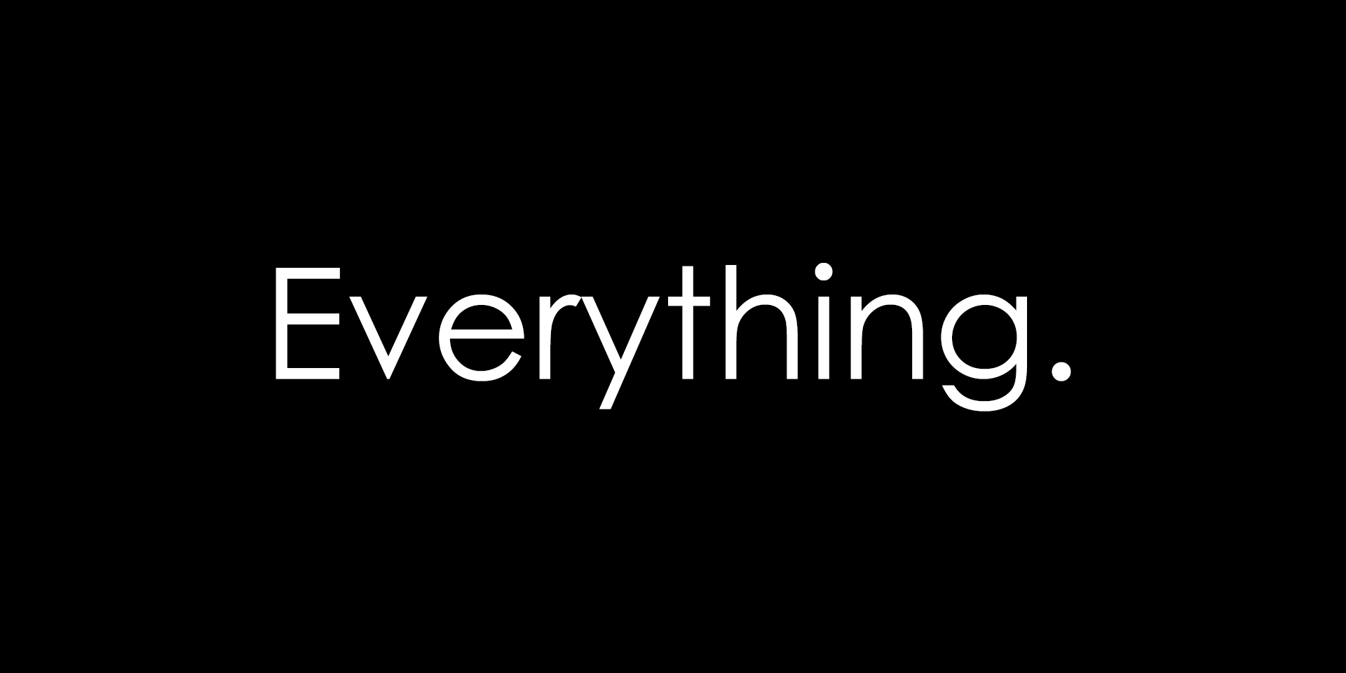 Everything banner