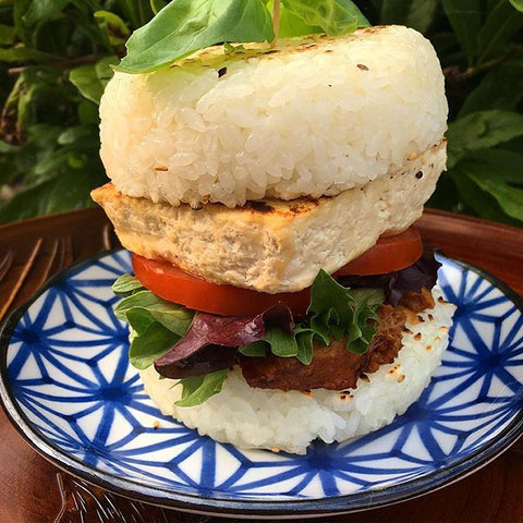 vegan rice burger