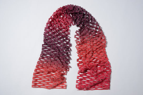 'Tanabata' ombre silk scarf - berry bordeaux