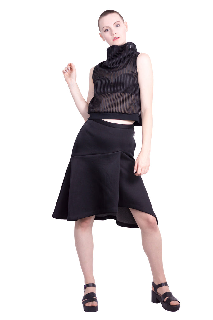 drop-waisted skirt