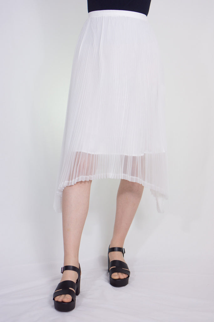 circular hem pleated skirt
