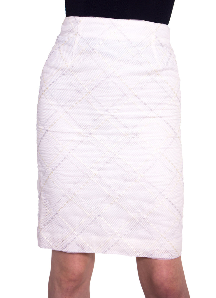 sheer organdy embroidered lace skirt