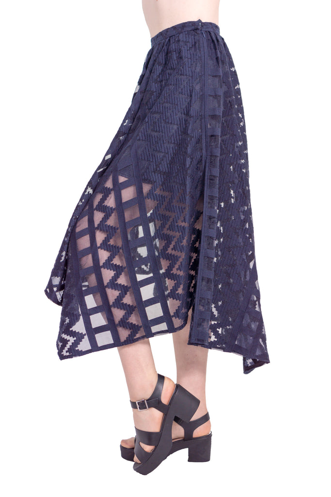 Geometric organdy skirt