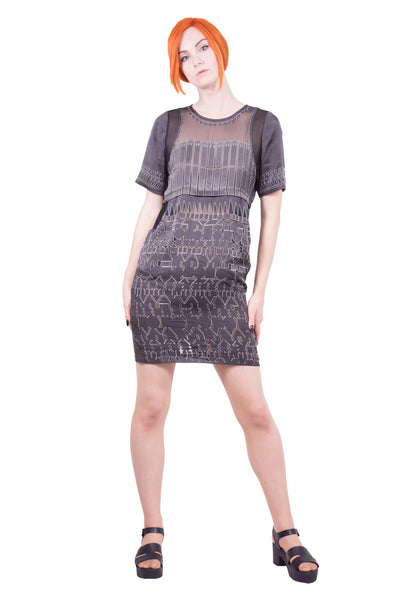 Lokitho - devore print dress - Butikku - 2