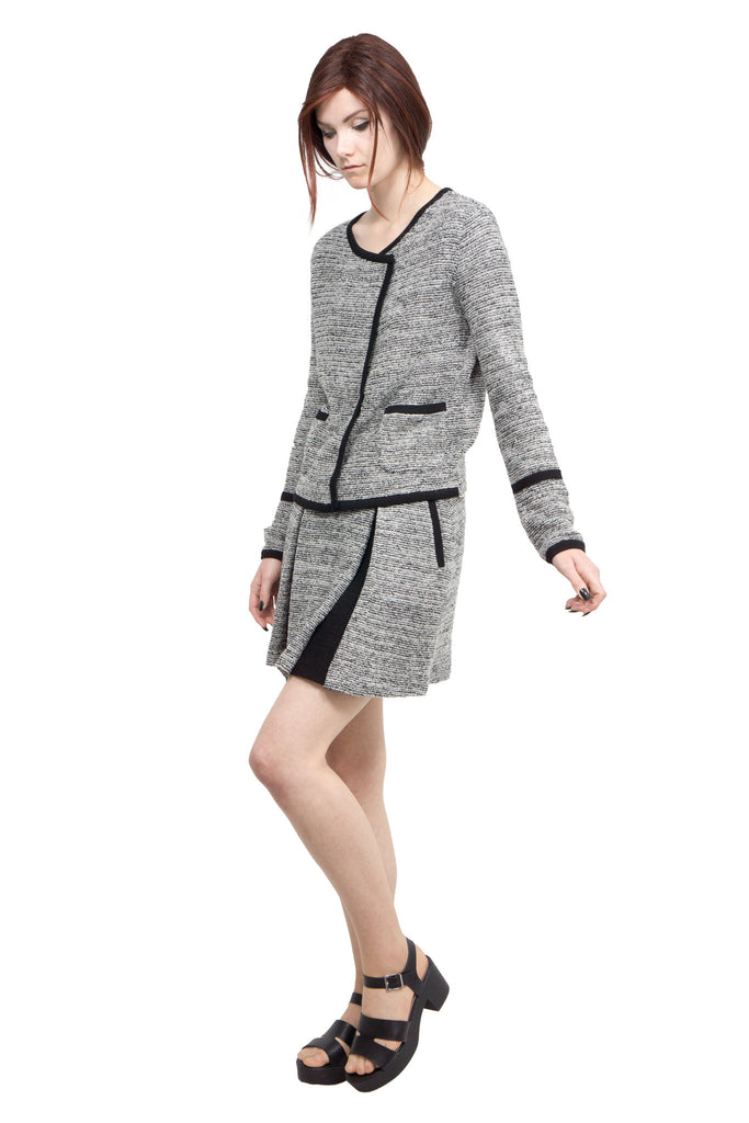 Lamarck - mix tweed knit skirt - Butikku - 3