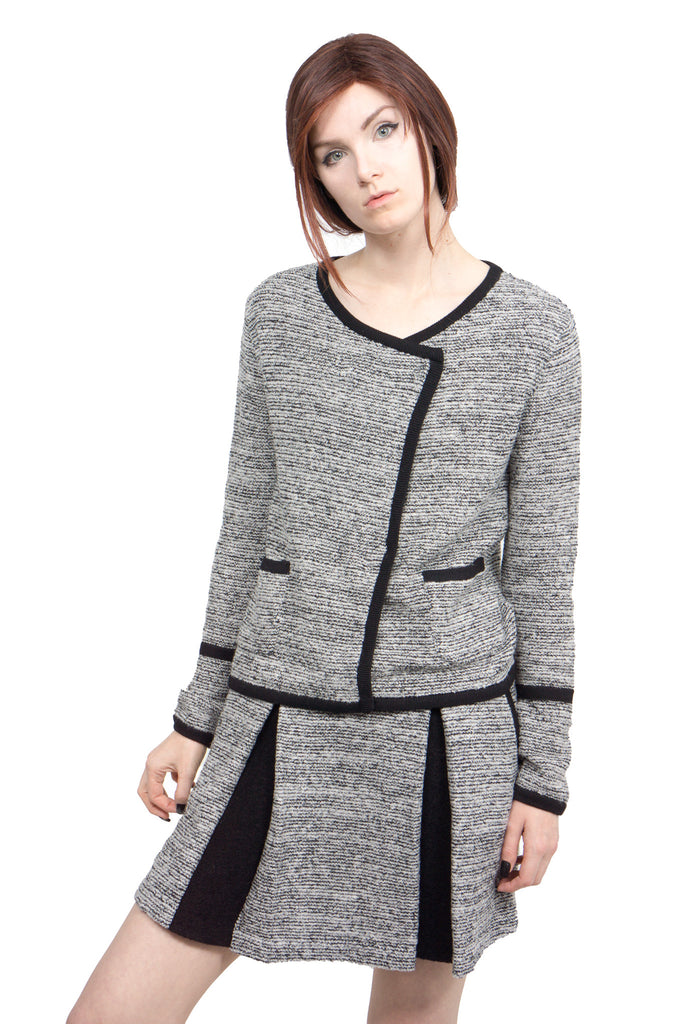 Lamarck - mix tweed knit skirt - Butikku - 5