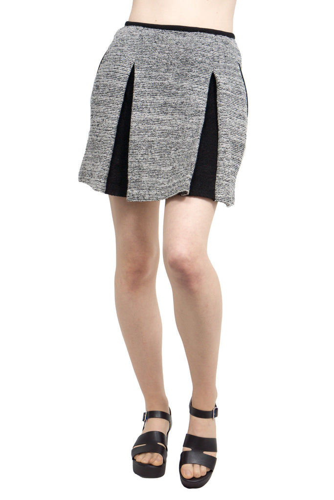 Lamarck - mix tweed knit skirt - Butikku - 1