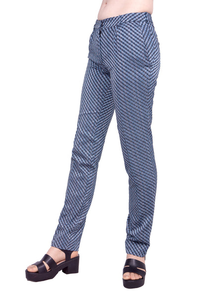 Cupro jacquard trousers
