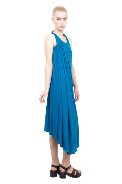 Divka - Asymmetric sleeveless gown - blue - Butikku - 1