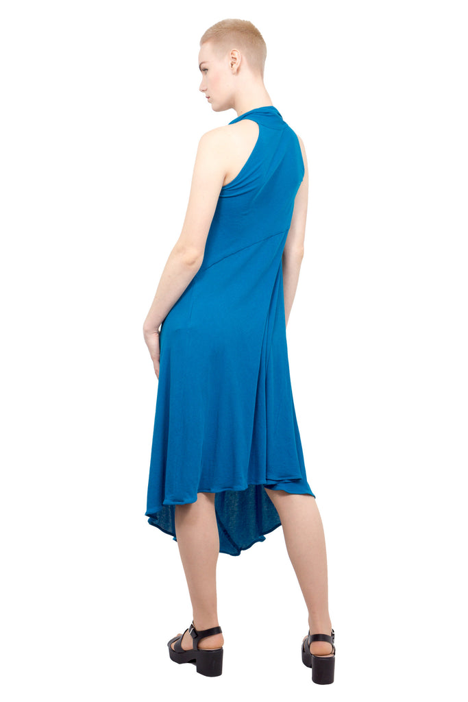 Divka - Asymmetric sleeveless gown - blue - Butikku - 3