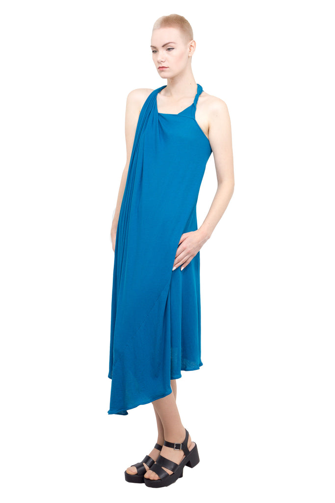 Divka - Asymmetric sleeveless gown - blue - Butikku - 5