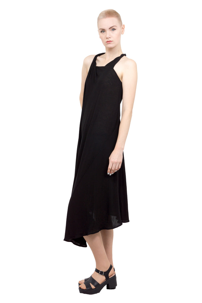 Divka - Asymmetric sleeveless gown - black - Butikku - 4