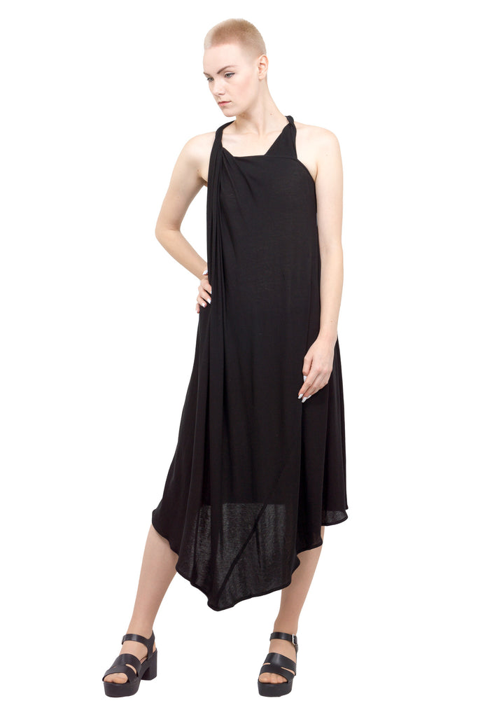Divka - Asymmetric sleeveless gown - black - Butikku - 7