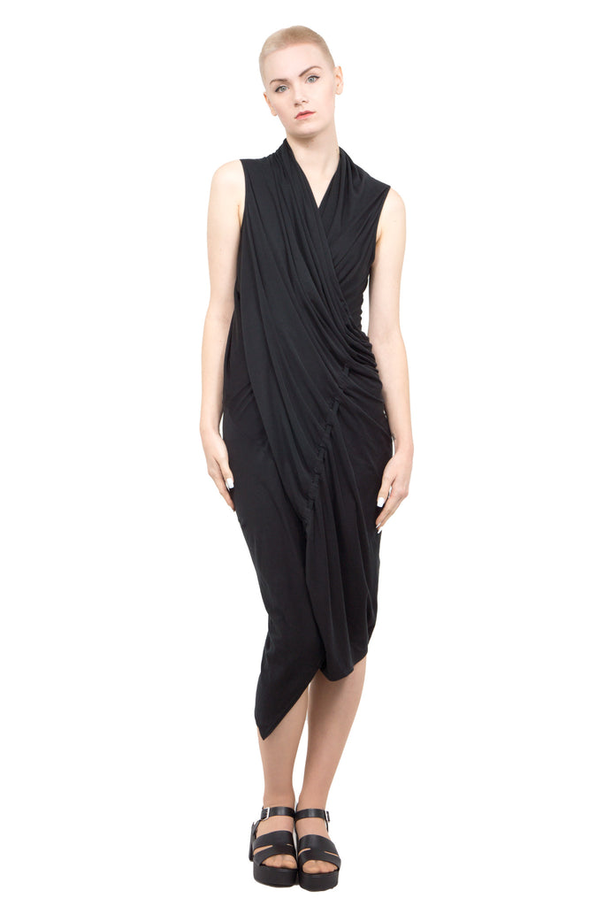 Divka - draped asymmetric dress - Butikku - 3