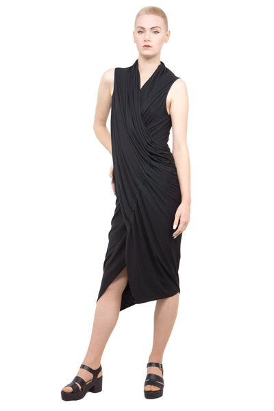 Divka - draped asymmetric dress - Butikku - 1