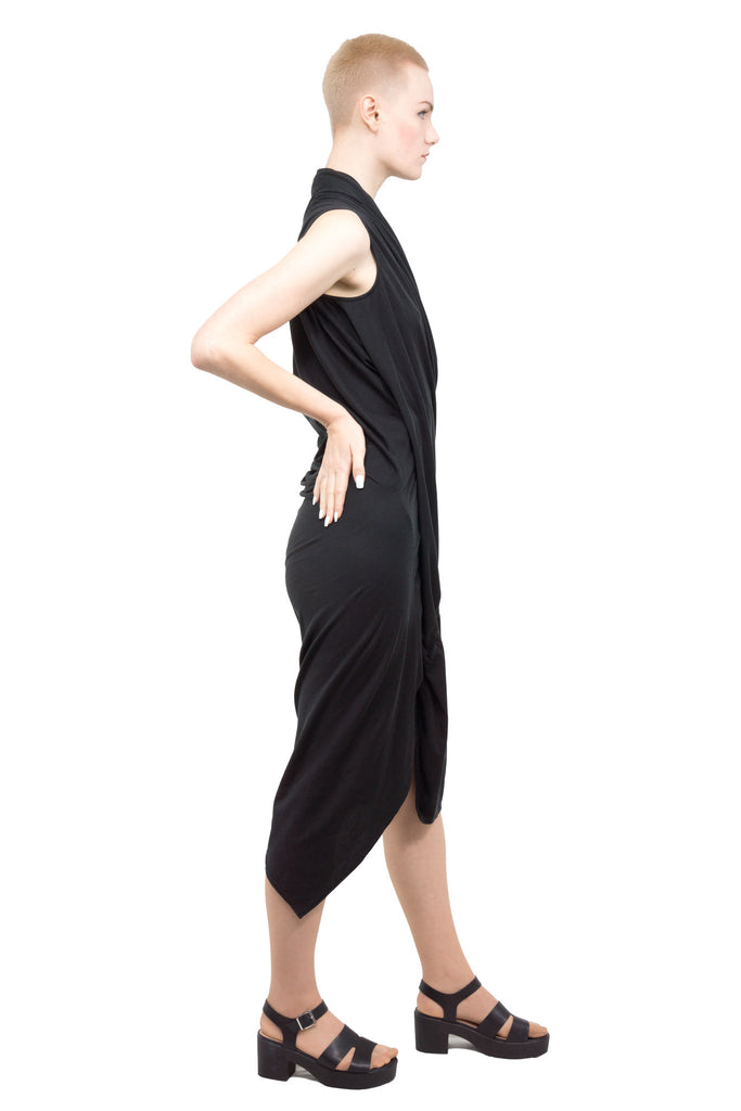 Divka - draped asymmetric dress - Butikku - 7