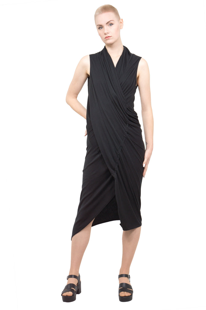 Divka - draped asymmetric dress - Butikku - 6