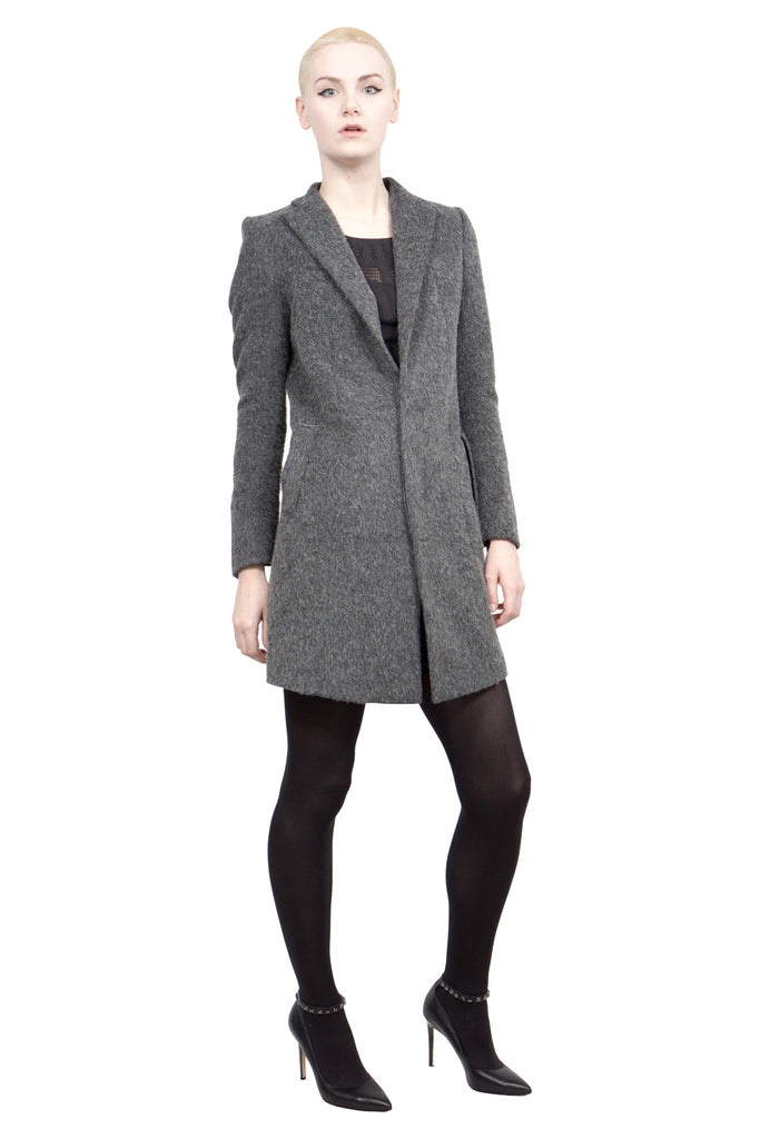 Divka - wool/alpaca single-breasted coat - Butikku - 3