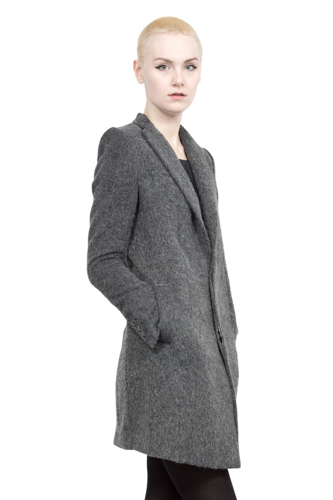Divka - wool/alpaca single-breasted coat - Butikku - 2