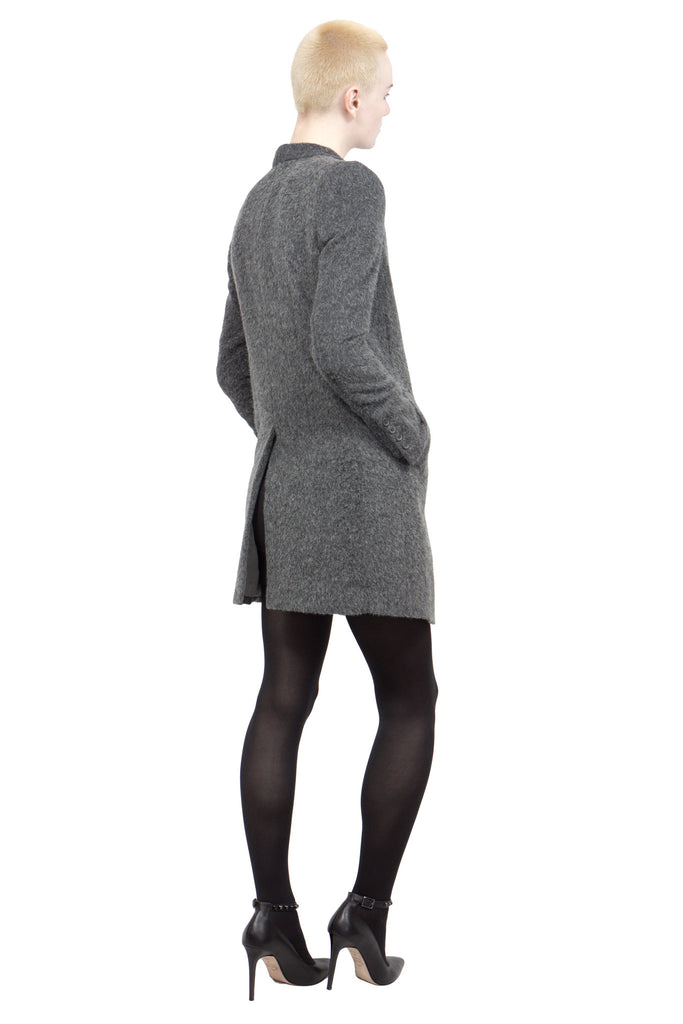 Divka - wool/alpaca single-breasted coat - Butikku - 7