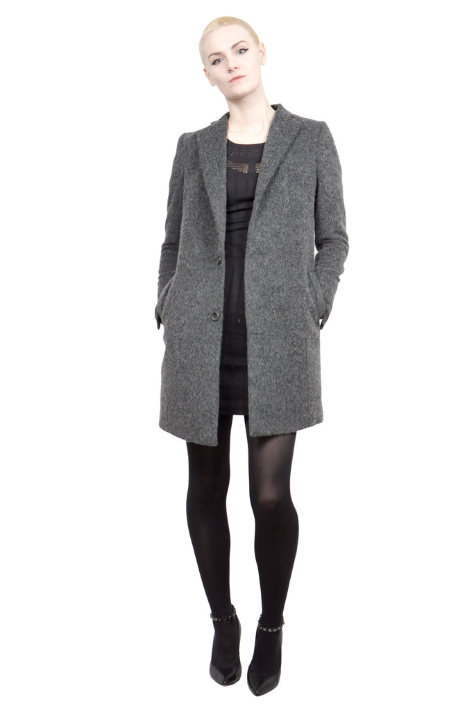 Divka - wool/alpaca single-breasted coat - Butikku - 5