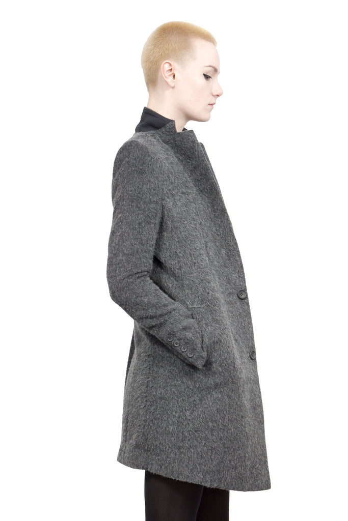 Divka - wool/alpaca single-breasted coat - Butikku - 6