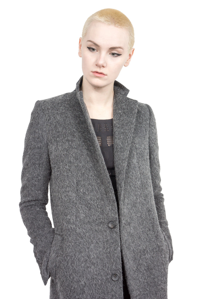 Divka - wool/alpaca single-breasted coat - Butikku - 1
