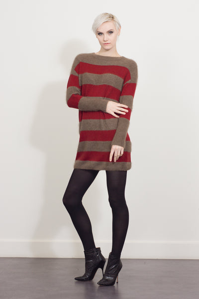 Long sleeve hooped tunic