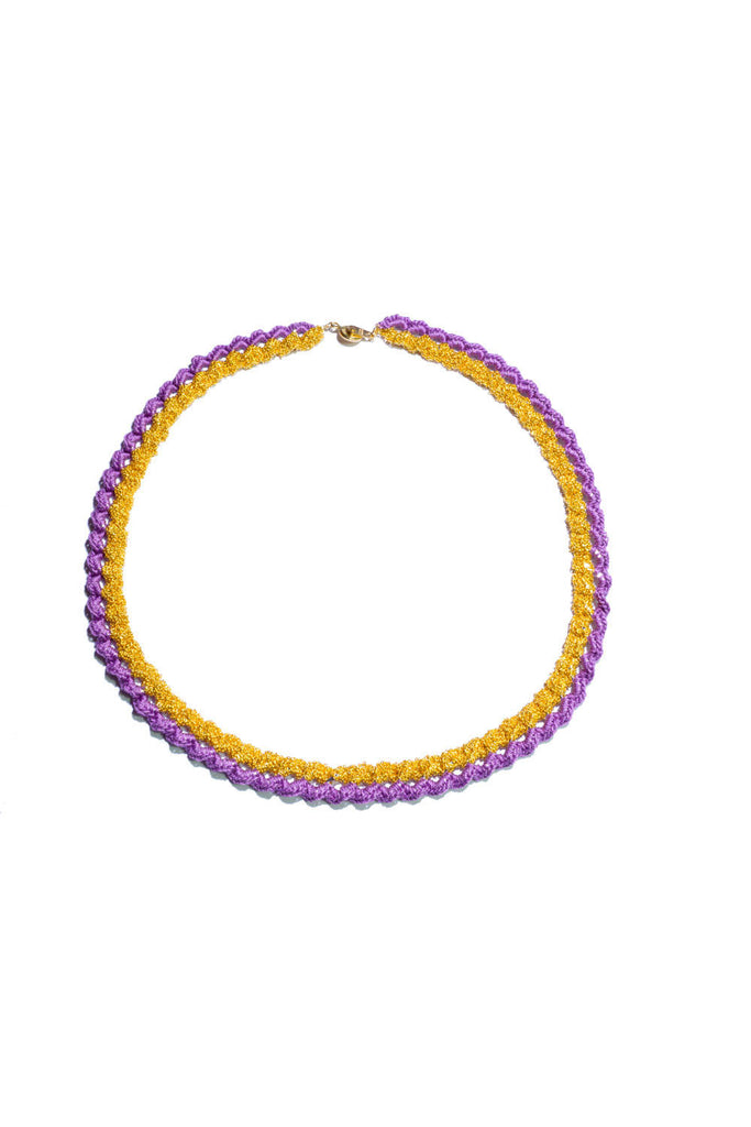 Sumikaneko - Contrast Love Chain Necklace-violet - Butikku - 1