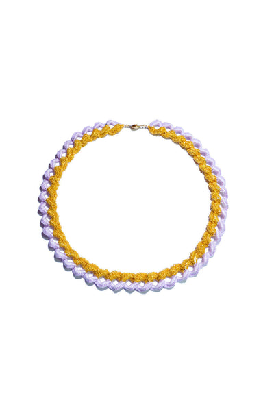 Sumikaneko - Contrast Love Chain Necklace-lavender - Butikku - 1