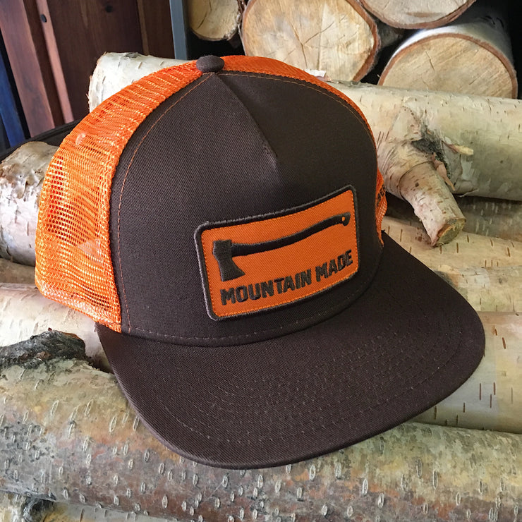 Mountain Made ~ Orange and Brown Truckers Hat