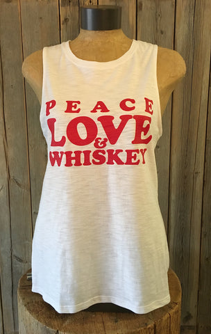 Peace, Love & Whiskey ~ Arrow and Axe Women's Tank
