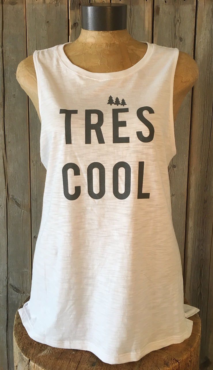Tres Cool ~ Arrow and Axe Women's White Tank