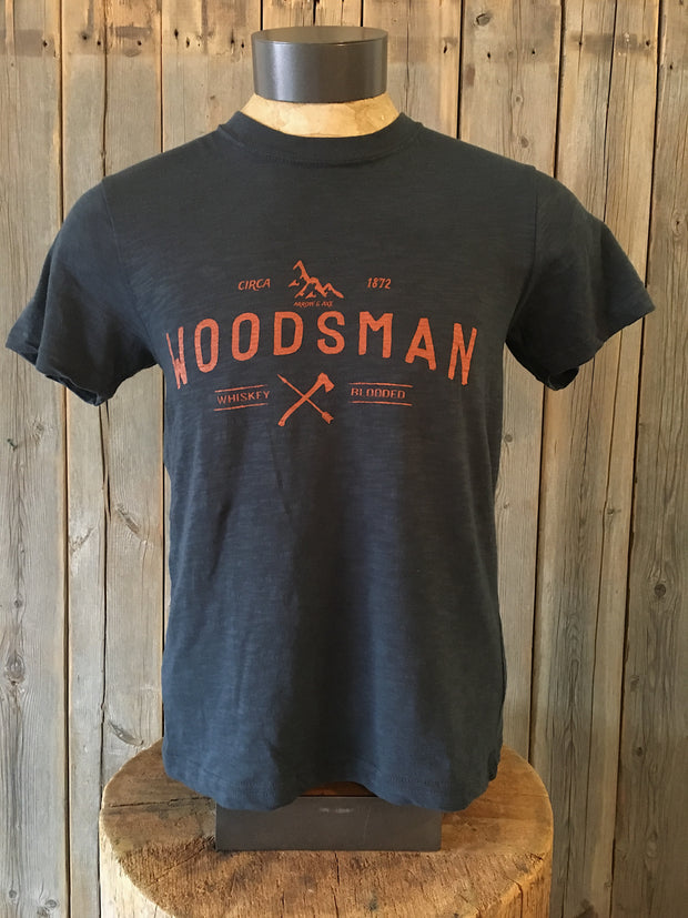 Woodsman ~ Arrow & Axe Short Sleeve (Brick print)