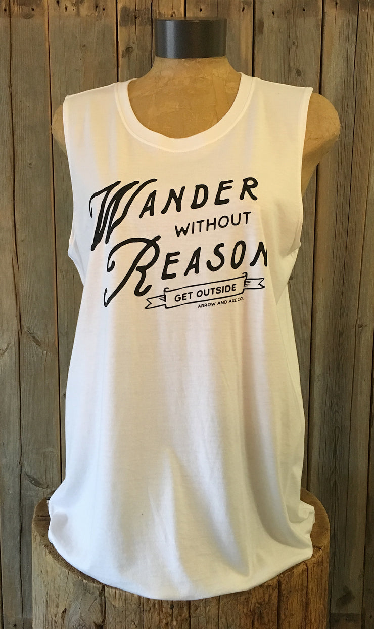 Wander Without Reason ~ Arrow and Axe Women's Tank