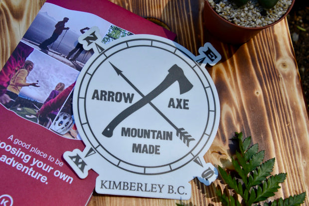 Arrow and Axe Logo Sticker