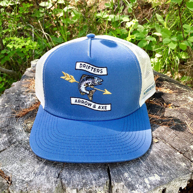 Drifters Fish Hat - navy & cream