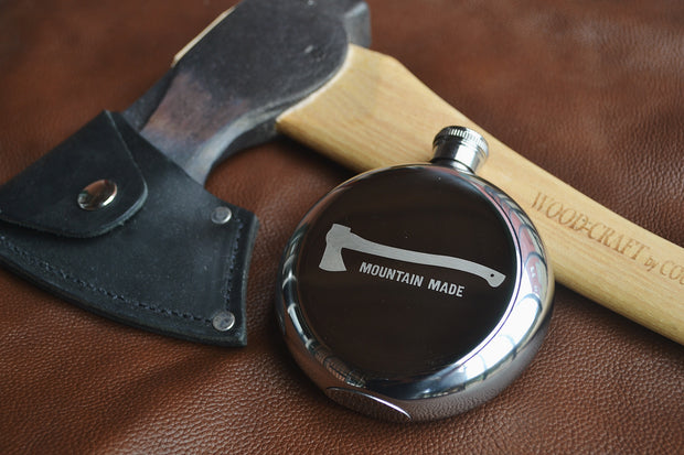Mountain Made ~ Arrow & Axe Flask