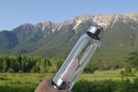 Crystal Water Bottle ~ Rose Quartz