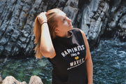 Happiness comes in Waves~ Arrow and Axe Women's Sweatshirt Vest