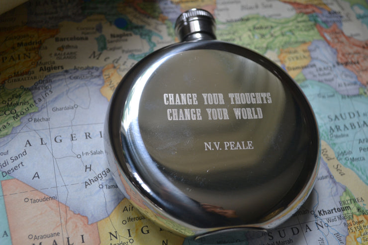 Change Your Thoughts, Change Your World~ Arrow & Axe Flask