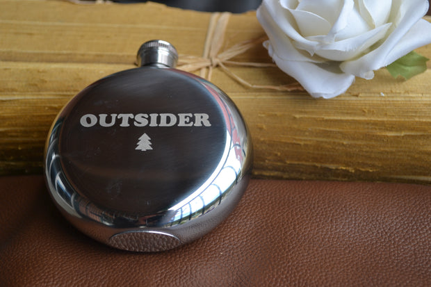 Outsider ~ Arrow & Axe Flask